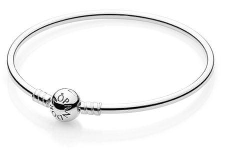 Pandora Pevný stříbrný náramek 590713 (Délka 21 cm) stříbro 925 1000 ... 2956dde26d8