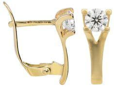 Brilio Zlaté náušnice s krystalem 236 001 00894 - 1,80 g zlato žluté 585/1000