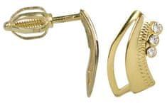 Brilio Zlaté náušnice s krystaly 239 001 00569 - 1,55 g zlato žluté 585/1000