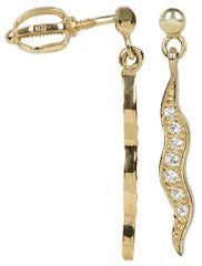 Brilio Zlaté náušnice s krystaly 239 001 00598 - 1,85 g zlato žluté 585/1000