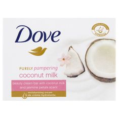 Dove Krémová tableta Purely Pampering s vůní kokosového mléka a jasmínu (Beauty Cream Bar) 100 g