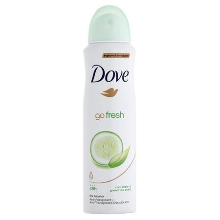 Dove Antiperspirant ve spreji Go Fresh s vůní okurky a zeleného čaje (Cucumber & Green Tea Scent) (Objem