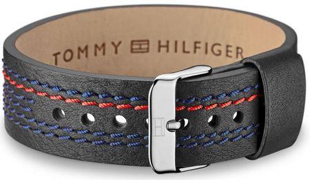 Tommy Hilfiger Čierny kožený náramok TH2700686