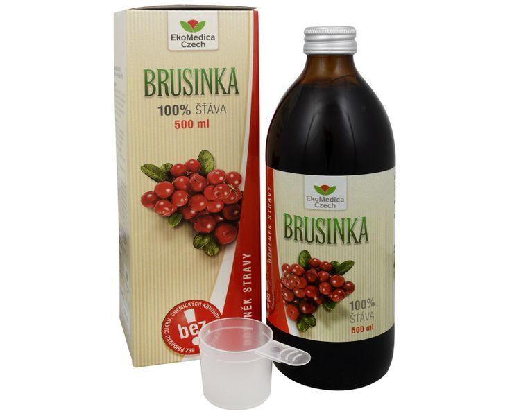 EkoMedica Czech Brusinka - 100% šťáva z brusinky 500 ml