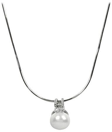 JwL Luxury Pearls Ezüst nyaklánc gyöngy és kristály medállal JL0197 ... ae9b3a81fe