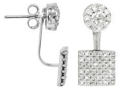 JwL Luxury Pearls Elegantní stříbrné dvojnáušnice se zirkony JL0198 stříbro 925/1000