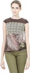 Desigual Dámske tričko Gladis Marron Oscuro 67T24M7 6044