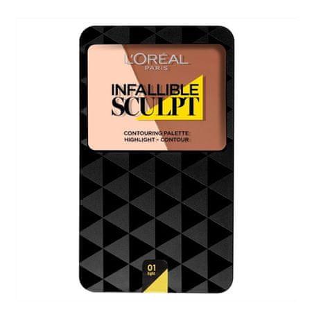 L'Oréal Krem do twarzy konturu inspektor niezawodnie rzeźbią (palet konturu) 10 g (cień 01 Light Medium)