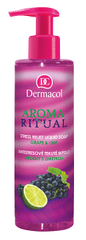 Dermacol Antistresové tekuté mýdlo hrozny s limetkou Aroma Ritual (Stress Relief Liquid Soap)