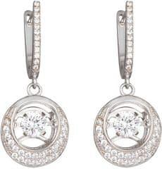 Preciosa Stříbrné náušnice s kameny Shimmer 5185 00 stříbro 925/1000