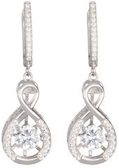 Preciosa Stříbrné náušnice s krystaly Precision 5187 00 stříbro 925/1000
