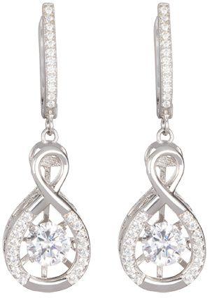 Preciosa Srebrne kolczyki z kryształami Precision 5187 00 srebro 925/1000