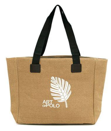 Art of Polo Nákupná taška Leaf tr16126.2 Dark beige