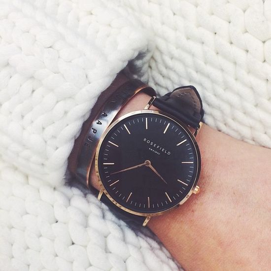 Rosefield THE BOWERY Black Black Rose gold