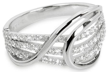 Silver Cat Strieborný prsteň so zirkónmi SC186 (Obvod 58 mm) striebro 925/1000