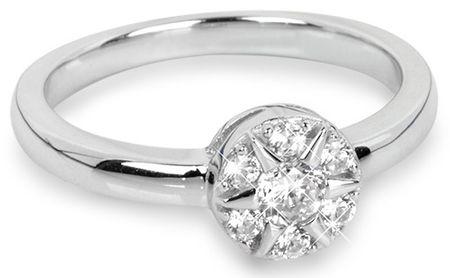 Silver Cat Stříbrný prsten Květina se zirkony SC206 (Obvod 60 mm) stříbro 925/1000