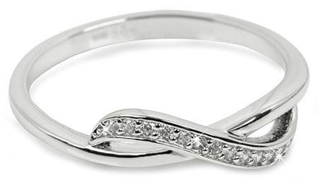 Brilio Silver Strieborný prsteň so zirkónmi 31G3100 (Obvod 52 mm) striebro 925/1000