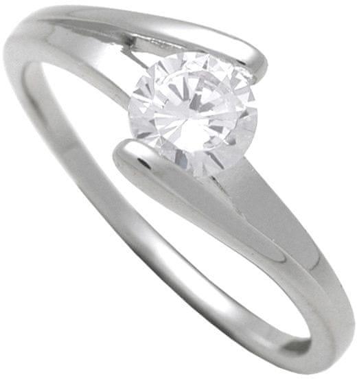 f5fdadf0e Brilio Silver Stříbrný zásnubní prsten 7111048 (Obvod 54 mm) stříbro  925/1000