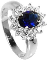 Brilio Silver Srebra pierścień niebieskie krystalicznych 5121615S srebro 925/1000