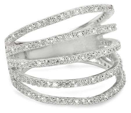 Brilio Silver Ezüst gyűrű cirkóniával 31G3098 (áramkör 50 mm) ezüst 925/1000