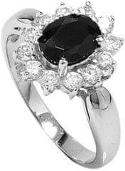 Brilio Silver Srebra pierścień czarną krystalicznej 5121615B srebro 925/1000