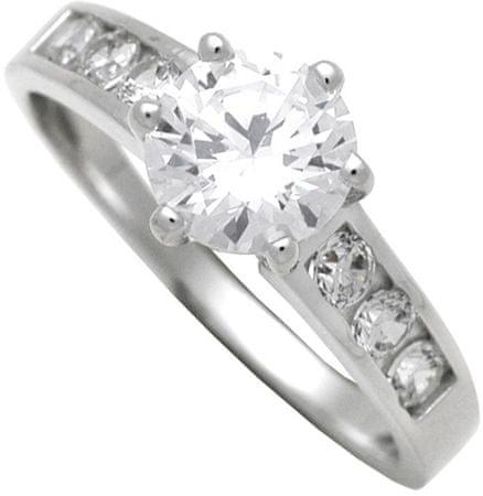 Brilio Silver Strieborný zásnubný prsteň 7111044 (Obvod 58 mm) striebro 925/1000