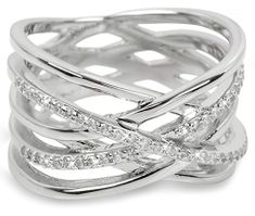 Brilio Silver Srebrny pierścionek z cyrkoniami 31G3071 srebro 925/1000