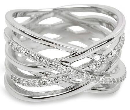 Brilio Silver Strieborný prsteň so zirkónmi 31G3071 (Obvod 54 mm) striebro 925/1000