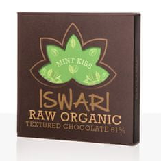 Iswari Raw čokoláda - Mint Kiss 75 g BIO