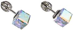 Evolution Group Náušnice kostka 31030.2 krystal ab stříbro 925/1000
