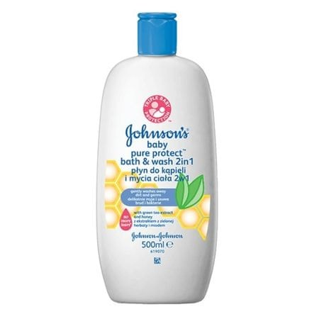Johnson&Johnson Koupel a mycí gel Baby Pure Protect 500 ml