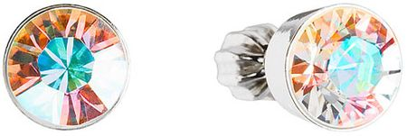 Evolution Group Náušnice s kryštálmi Swarovski 31113.2 krystal ab striebro 925/1000