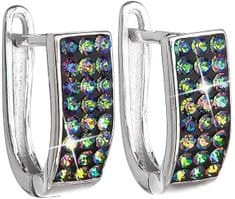 Evolution Group Stříbrné náušnice s krystaly Swarovski 31123.5 vitrail medium stříbro 925/1000