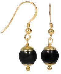 JwL Luxury Pearls Zlacené stříbrné náušnice s hematitem JL0228 stříbro 925/1000