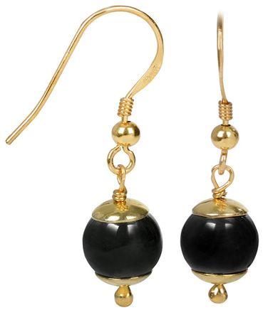 JwL Luxury Pearls Aranyozott ezüst fülbevaló hematittal JL0228 ezüst 925/1000