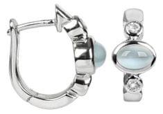 Silver Cat Stříbrné náušnice s kočičími oky a zirkony SC173 stříbro 925/1000