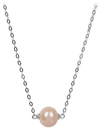 JwL Luxury Pearls Ezüst nyaklánc lazac színű gyönggyel JL0245 ezüst 925/1000
