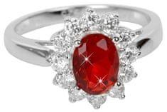 Brilio Silver Stříbrný prsten s červeným krystalem 5121615R stříbro 925/1000