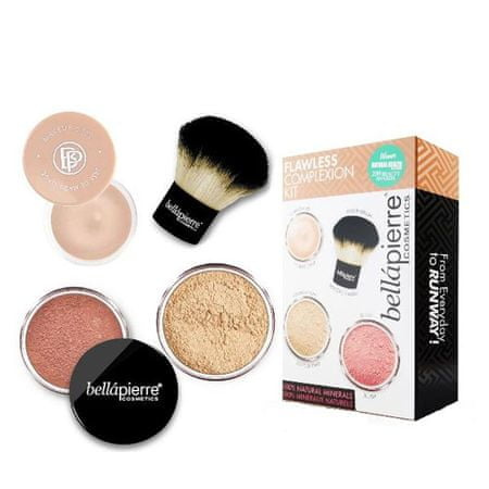 Bellapierre Sada pre dokonalý make-up Flawless Complexion (Make-Up Kit) (Odtieň Dark)