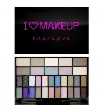 Makeup Revolution Tematická paletka Fast Love (Eye Shadow palette) 14 g