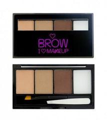 Makeup Revolution Set na obočí I Love Brows (Palette For Brow) 3 g