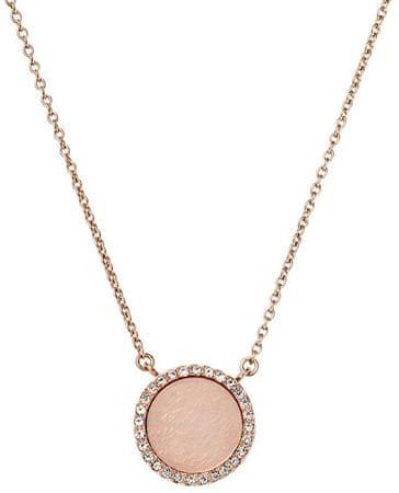 Michael Kors Bronzový náhrdelník so zdobeným príveskom MKJ4330791