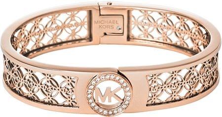 Michael Kors Pevný bronzový náramok s ornamentmi a kryštály MKJ4147791