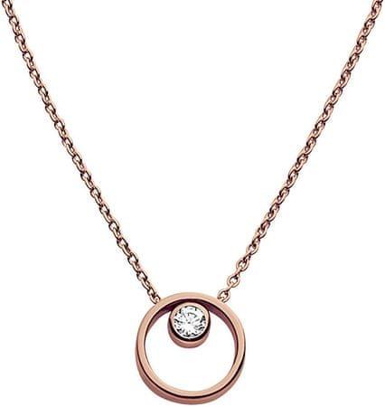 Skagen Romantický bronzový náhrdelník SKJ0850791