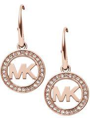 Michael Kors Bronzové náušnice s krystaly MKJ4796791