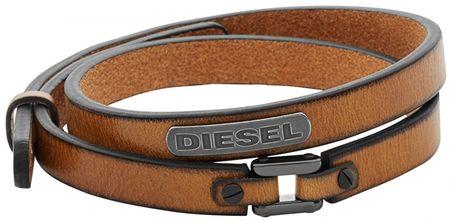 Diesel Dvojitý kožený náramok DX0984040