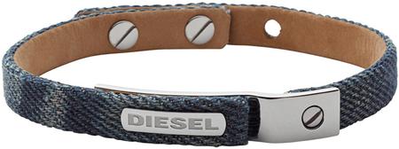 Diesel Męska bransoletka denim DX0974040