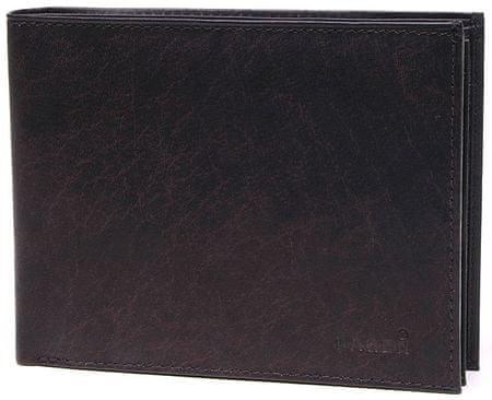 Lagen Pánská tmavě hnědá kožená peněženka Dark Brown V-75