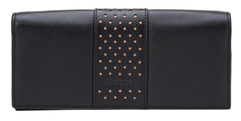 Lagen Dámská černá kožená peněženka B/N V-15