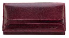 Lagen Női Vörösbor bőr pénztárca W-2025 / T